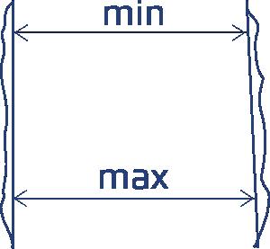 Замер расстояния между рельефными столбами